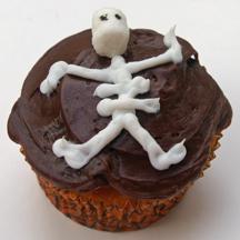 Skeleton cupcake