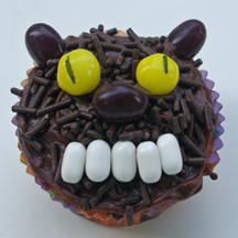 Creepy werewolf cupcake