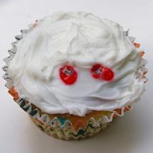 Vampire bite cupcake