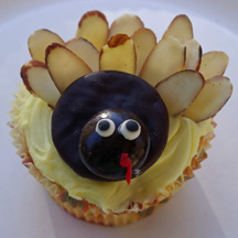 Minty turkey cupcake