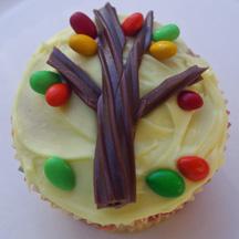 Fall tree cupcake