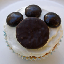 Paw cupcake