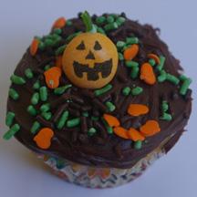 jack-o-lantern cupcake