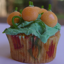 Pumpkin patch cupcake