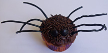 Long legged spider cupcake