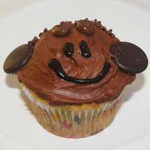 Chocolate monkey cupcake