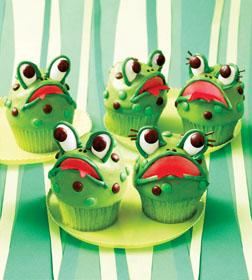 Hello Cupcake frog cupcakes